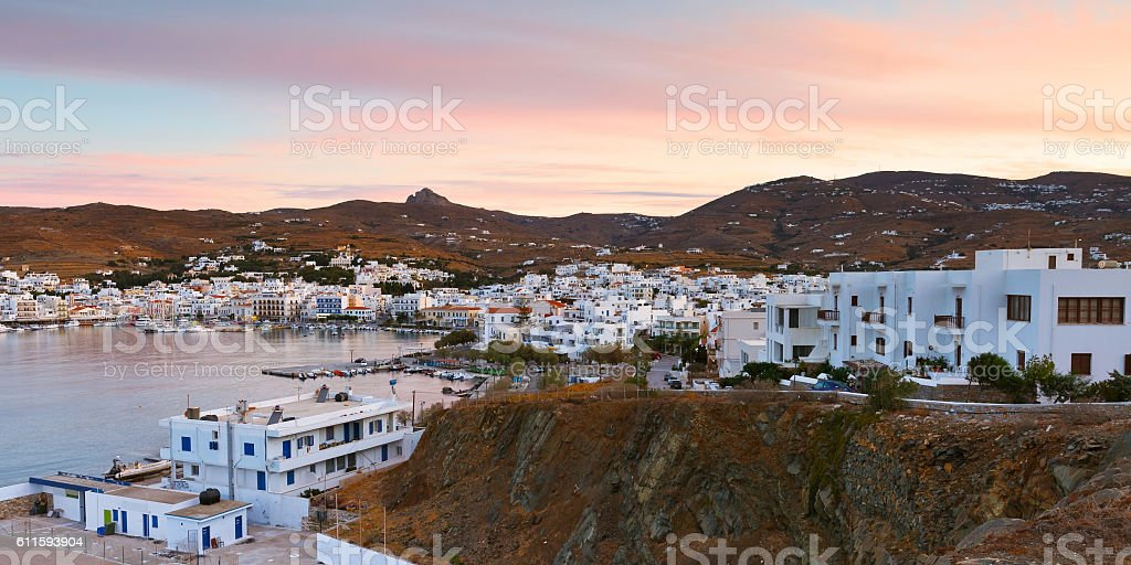 Town of Tinos. stock photo