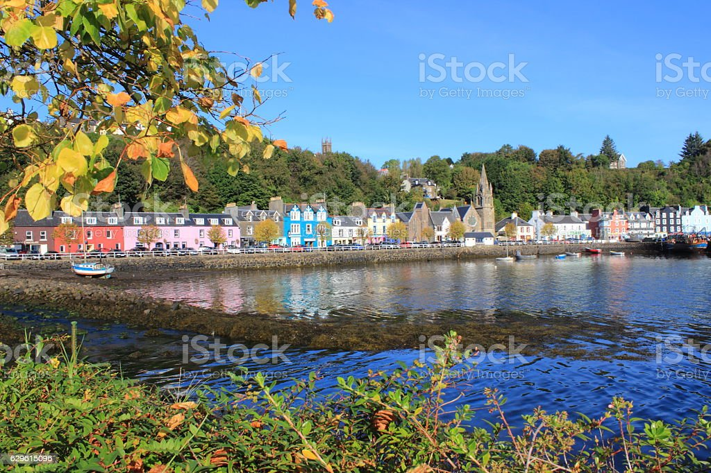 Town Of Tobermory On The Isle Of Mull stock photo