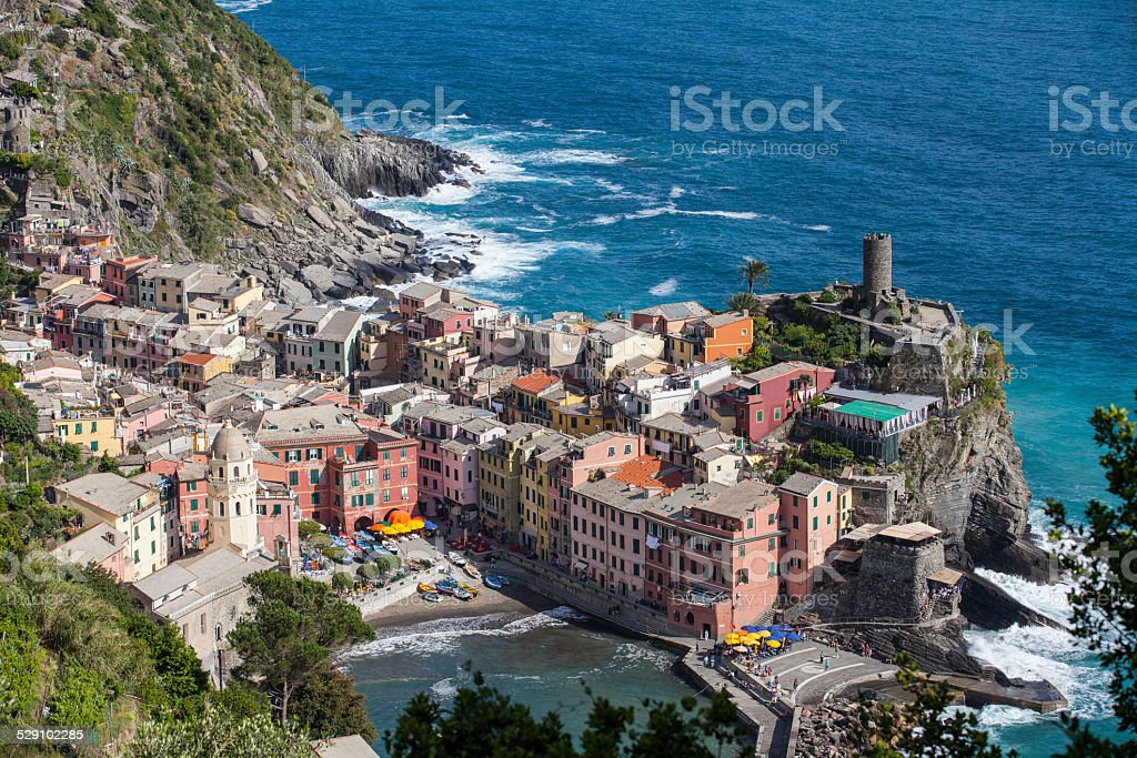 Town of Vernazza stock photo