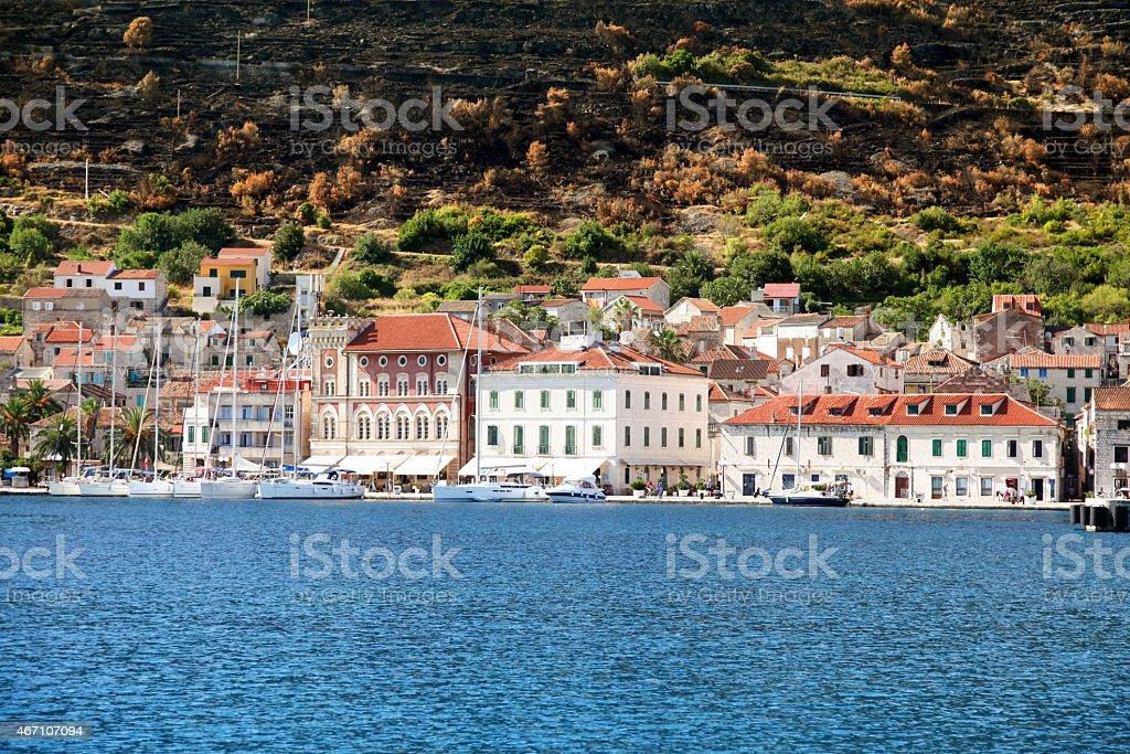Town of Vis - Vis island Croatia stock photo