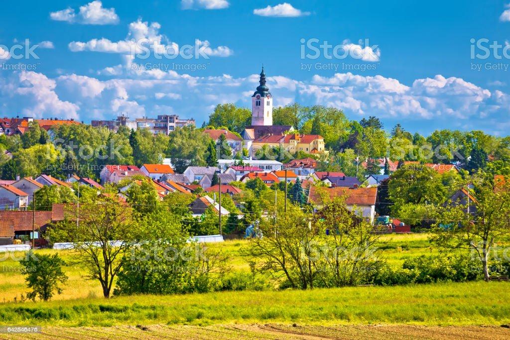 Town of Vrbovec landscape and architecture, Prigorje region of Croatia stock photo