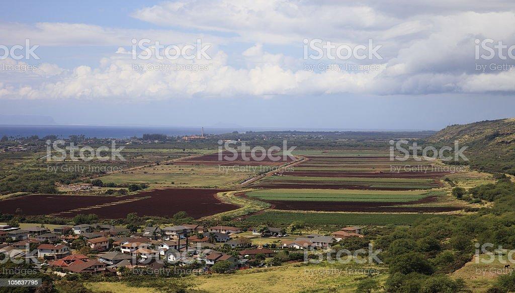 town of Waimea, Kauai, Hawaii, USA stock photo
