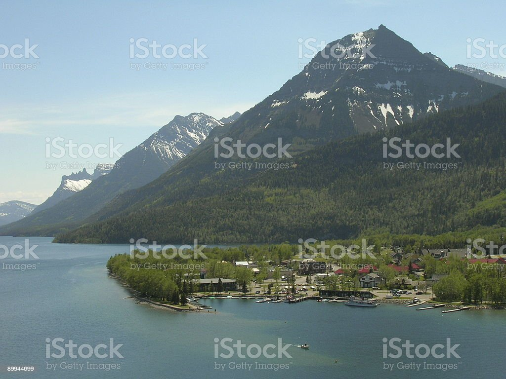 Town of Waterton, Alberta Canada royalty-free stock photo