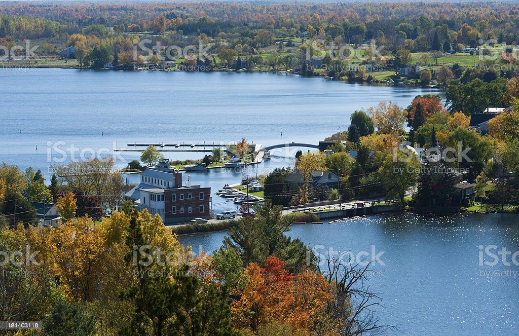 Town of Westport Fall Series stock photo