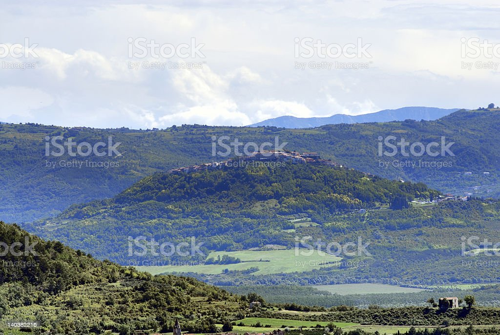 Town on a Hill royalty-free stock photo