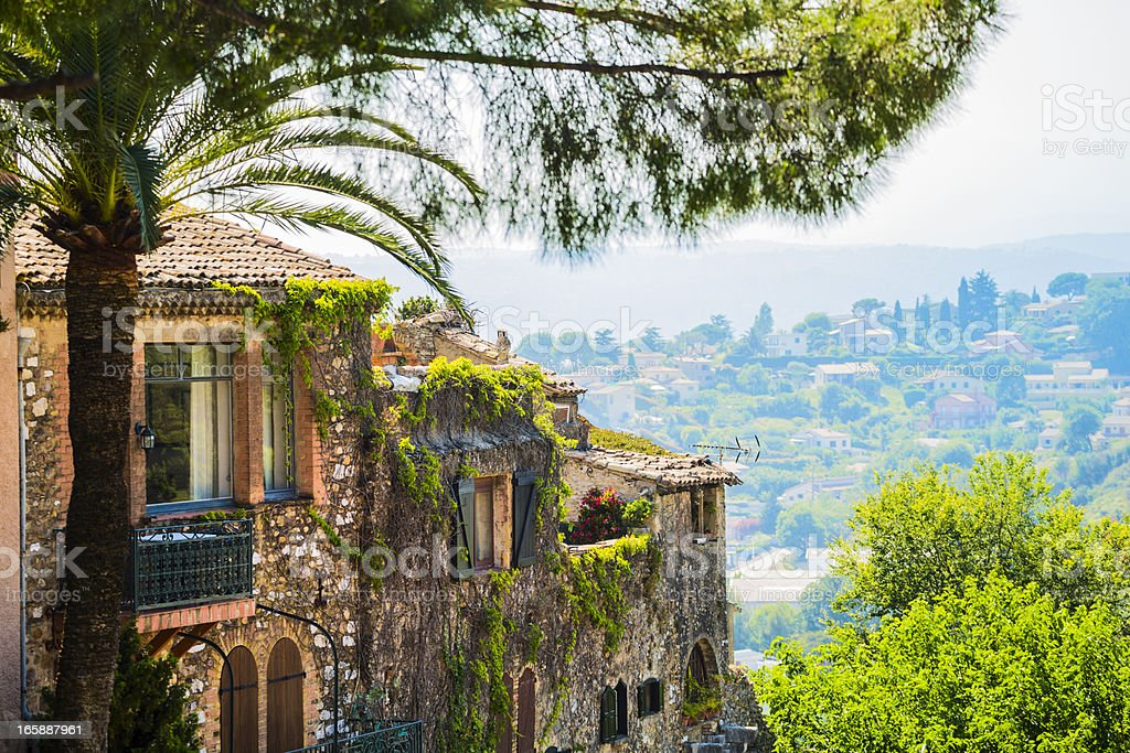 Town on Cote d'Azur stock photo