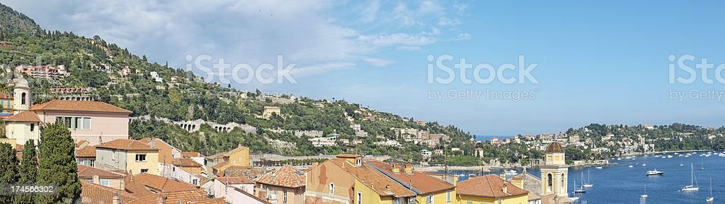 Town on French Riviera royalty-free stock photo