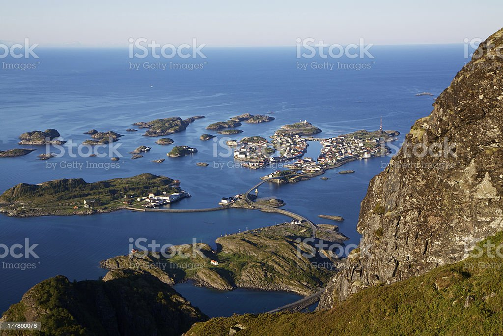 Town on islands royalty-free stock photo