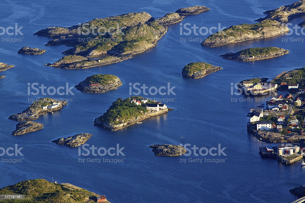 Town on little islands royalty-free stock photo