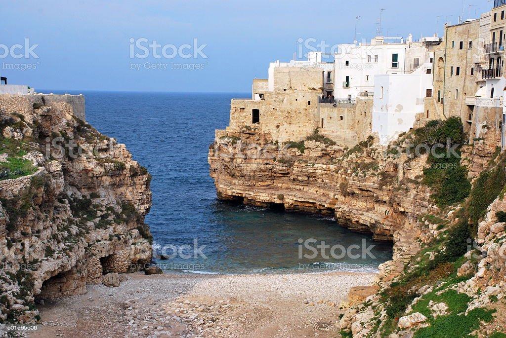 Town on the  Sea stock photo