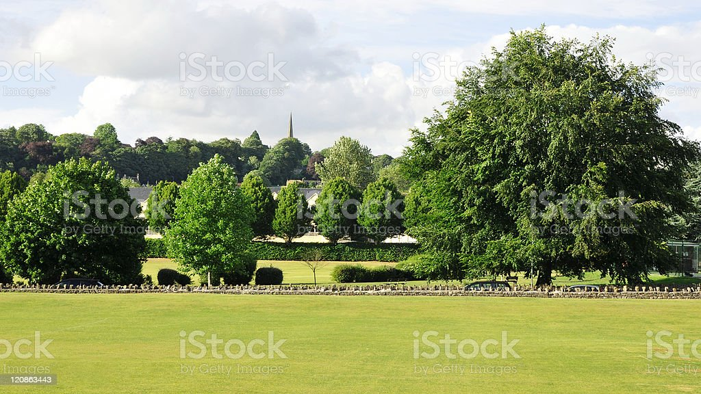 Town Park in Summer royalty-free stock photo