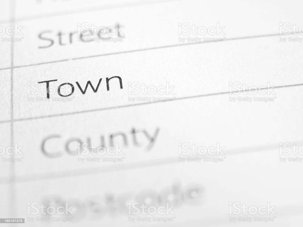 Town stock photo