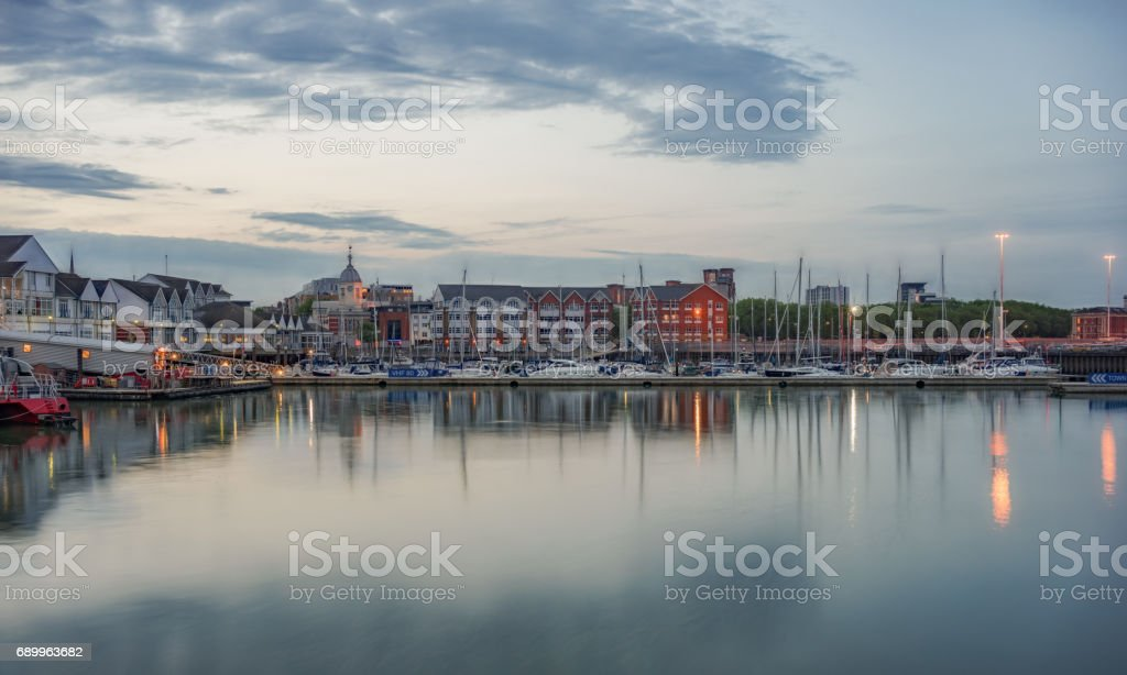 Town Quay in Southampton stock photo