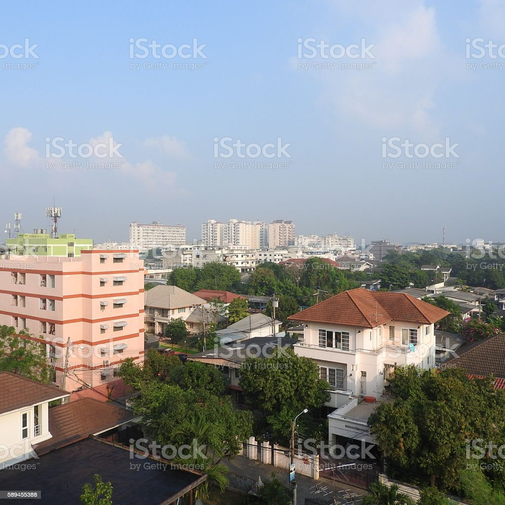Town scapes stock photo