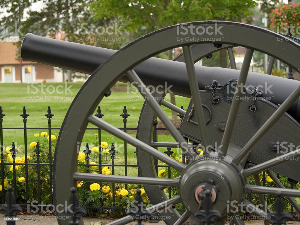 Town square cannon royalty-free stock photo