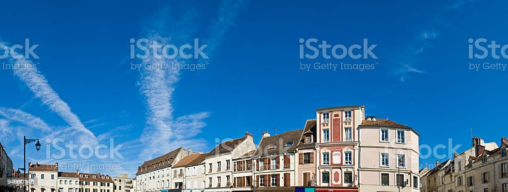 Town square France royalty-free stock photo