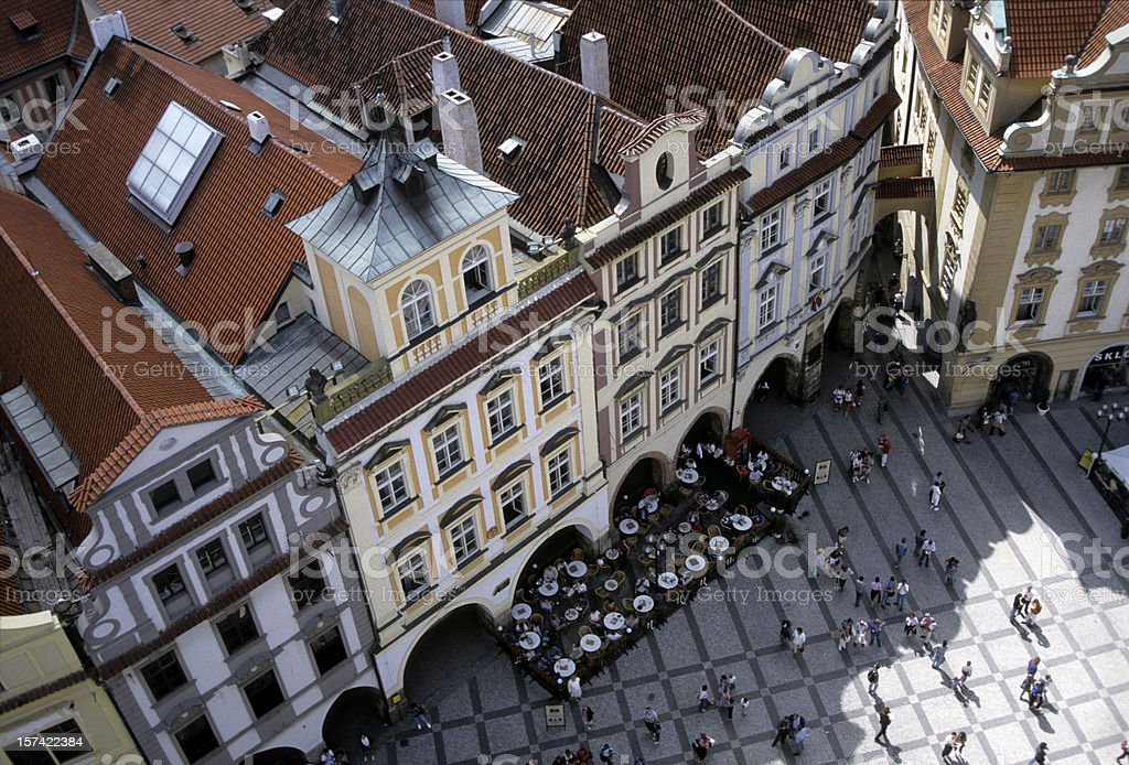 Town Square from Above royalty-free stock photo