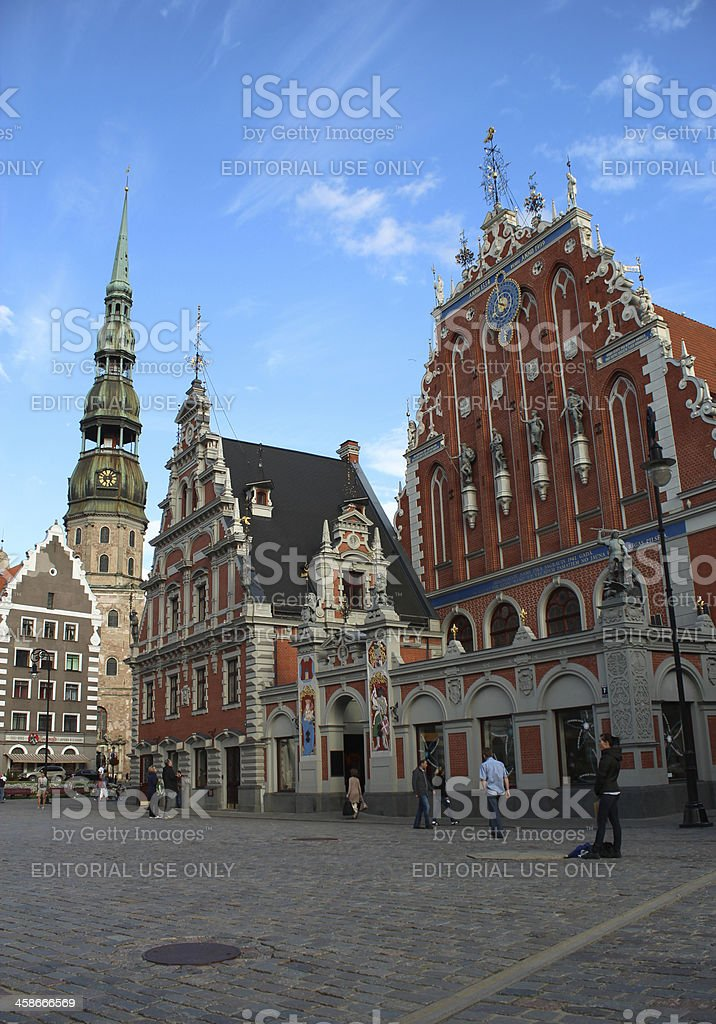 Town square, House of Blackheads stock photo