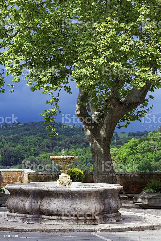 town square in Italy stock photo