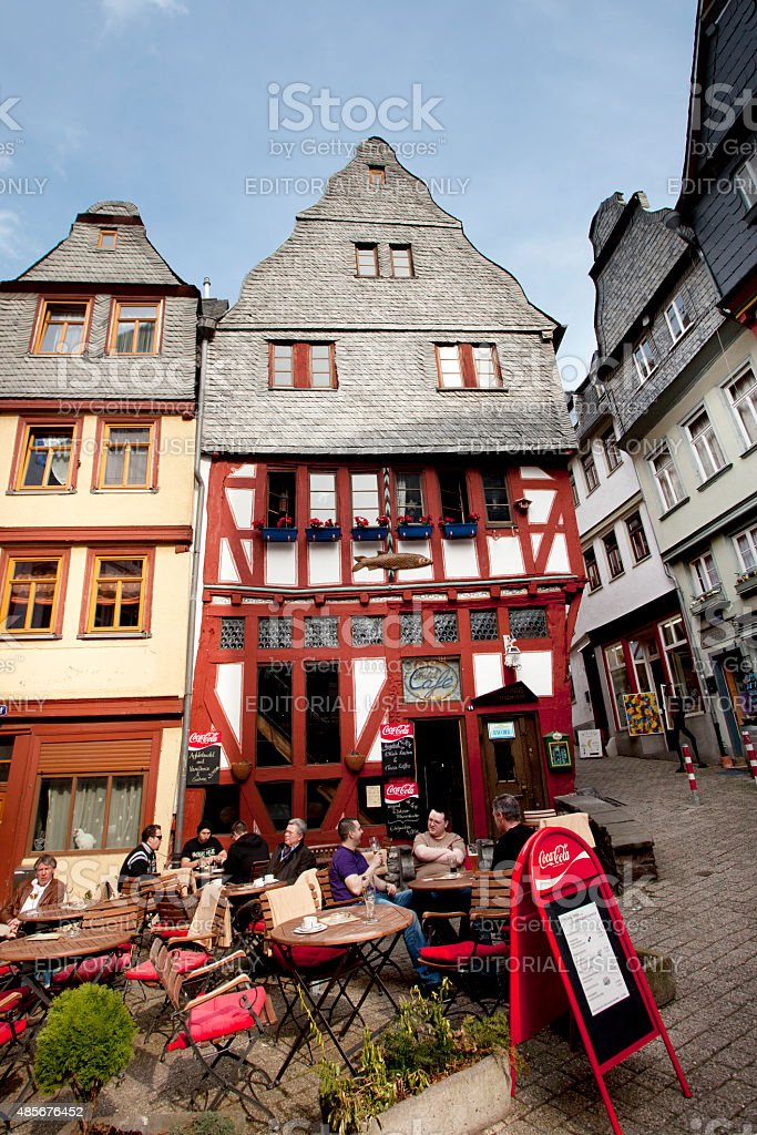 Town square in the historic city of Limburg, Germany stock photo