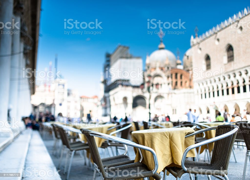 town square in venice - Italy stock photo