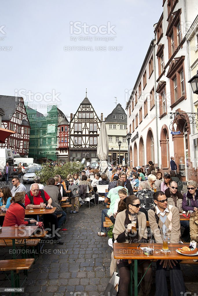 Town square of Limburg, Germany stock photo