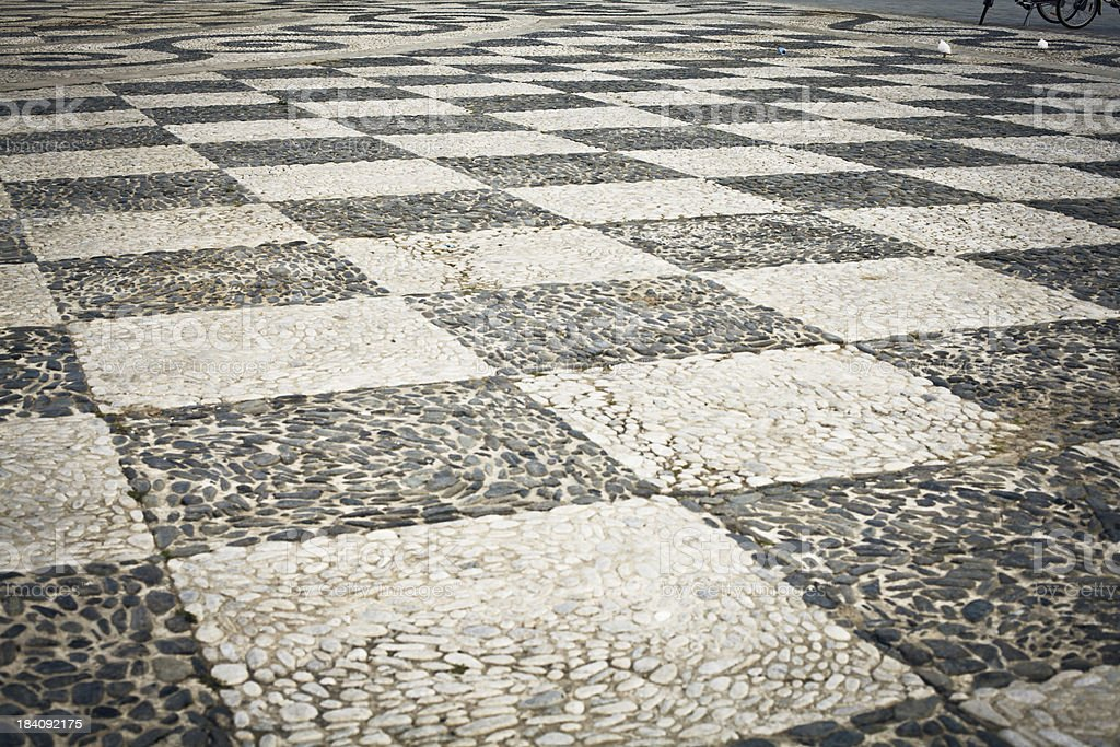 Town Square Pattern in Seville, Spain royalty-free stock photo