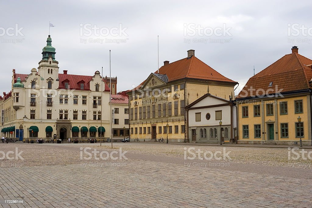 Town square stock photo