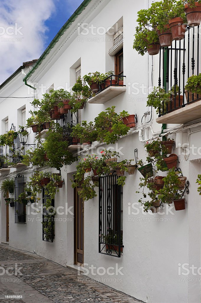 Town Street of Andalusia. Spain royalty-free stock photo