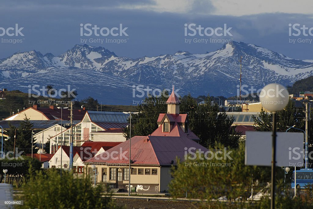 town Ushuaia, Argentina, South America stock photo