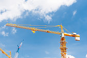 Towner Cranes on a Construction Site