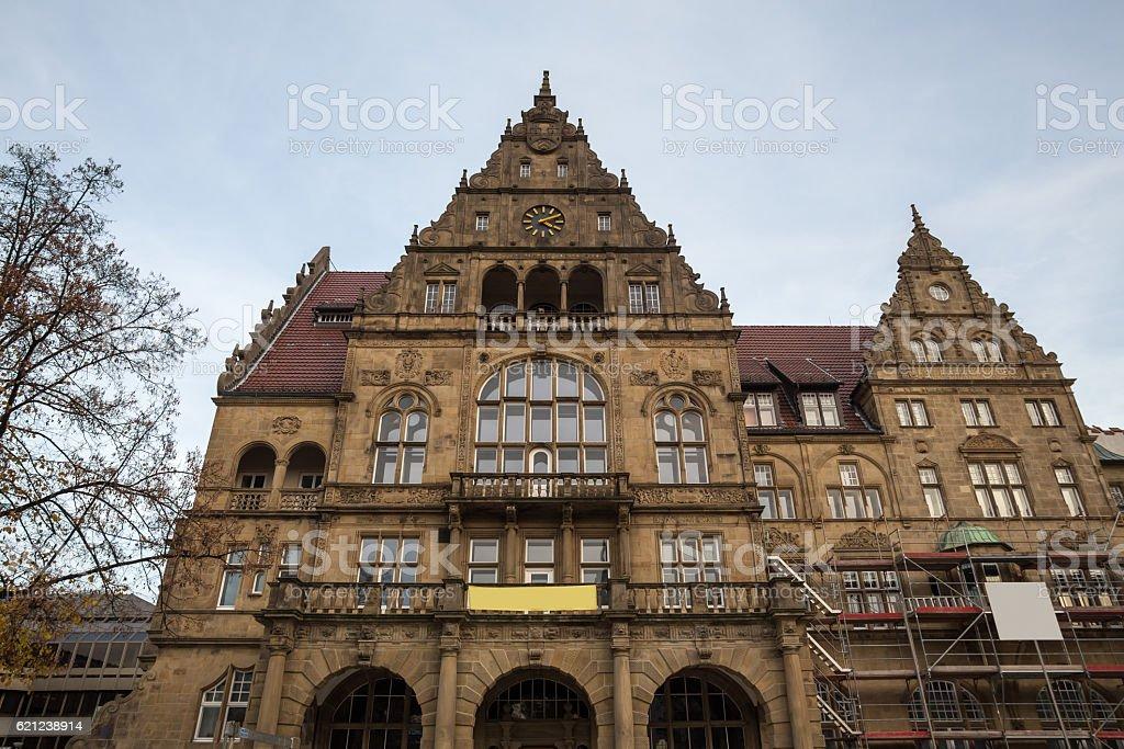 townhall bielefeld germany stock photo
