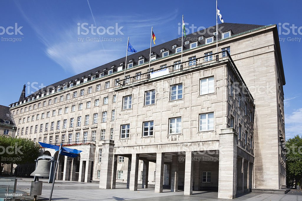 townhall in Bochum stock photo
