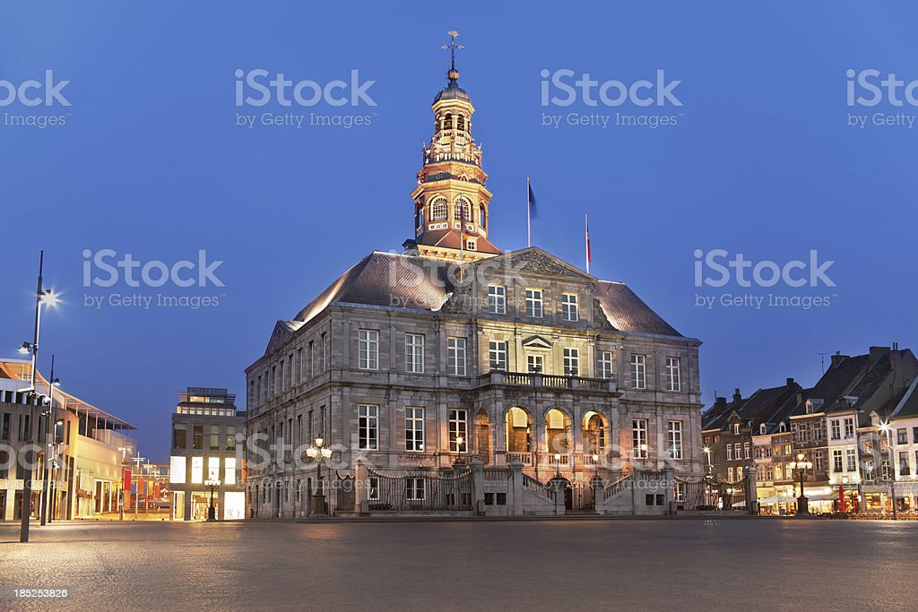 Town-hall in Maastricht royalty-free stock photo