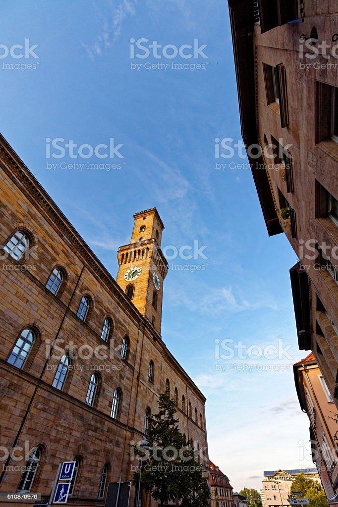 townhall - landmark of Fuerth, city in Bavaria stock photo
