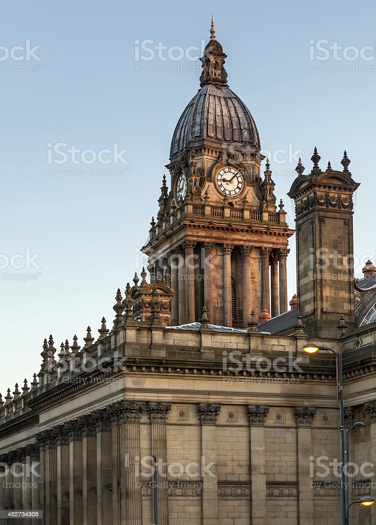townhall leeds backview stock photo