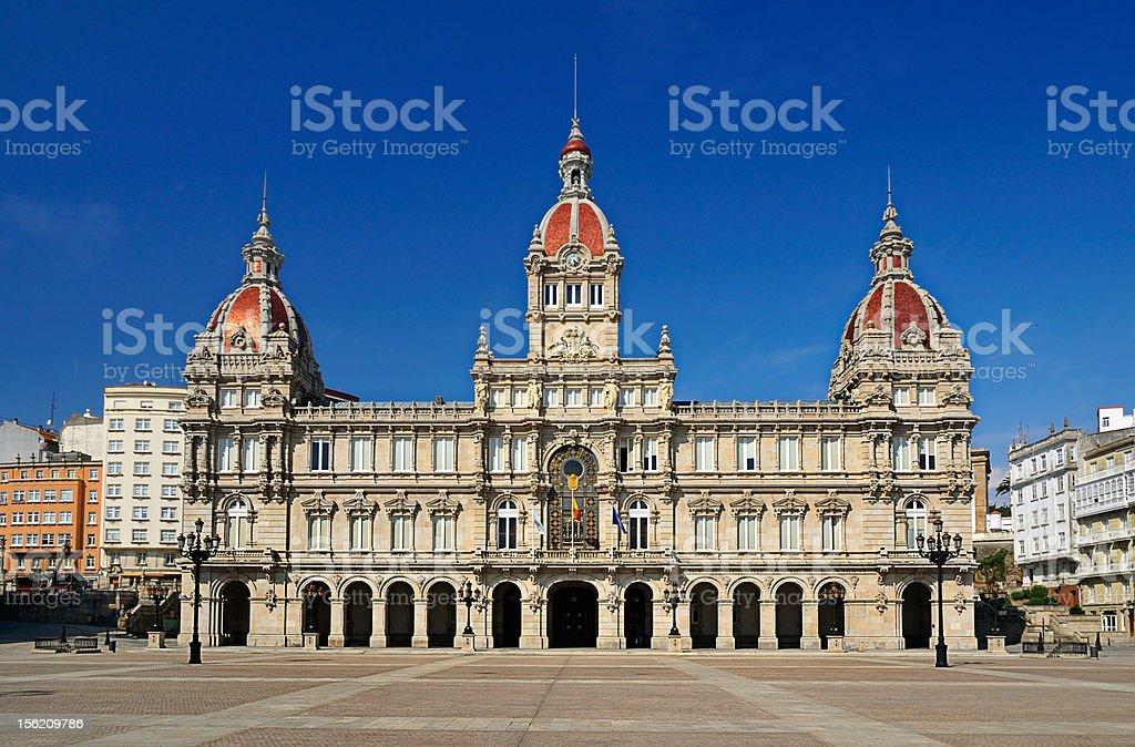 Townhall of La Coruña (Galicia-Spain) stock photo