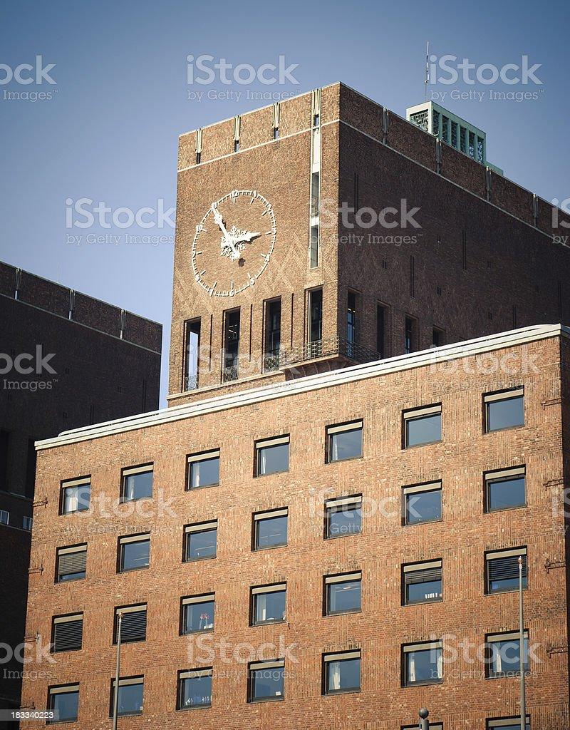 Townhall Radhus in Oslo royalty-free stock photo