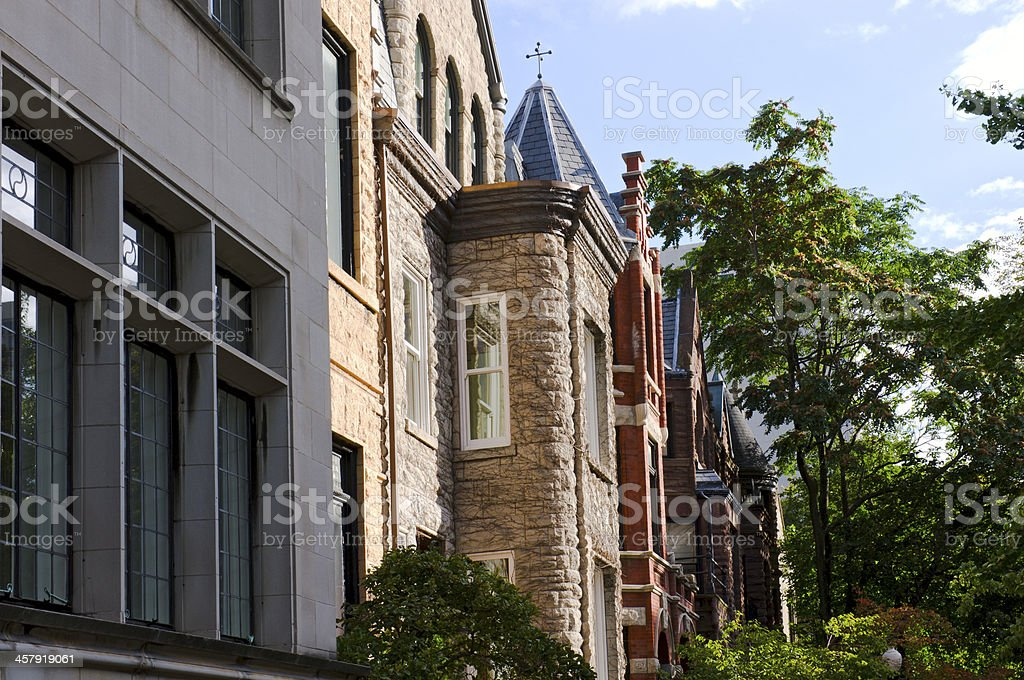 Townhomes in Lincoln Park Chicago stock photo