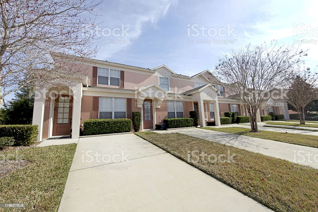 Townhomes royalty-free stock photo