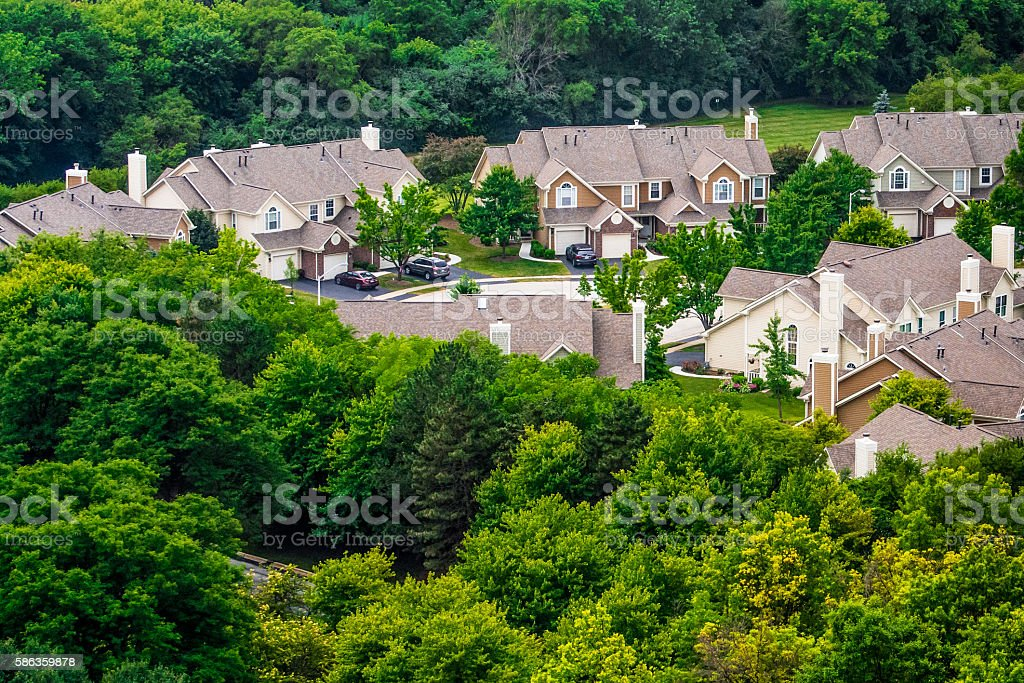 Townhomes stock photo
