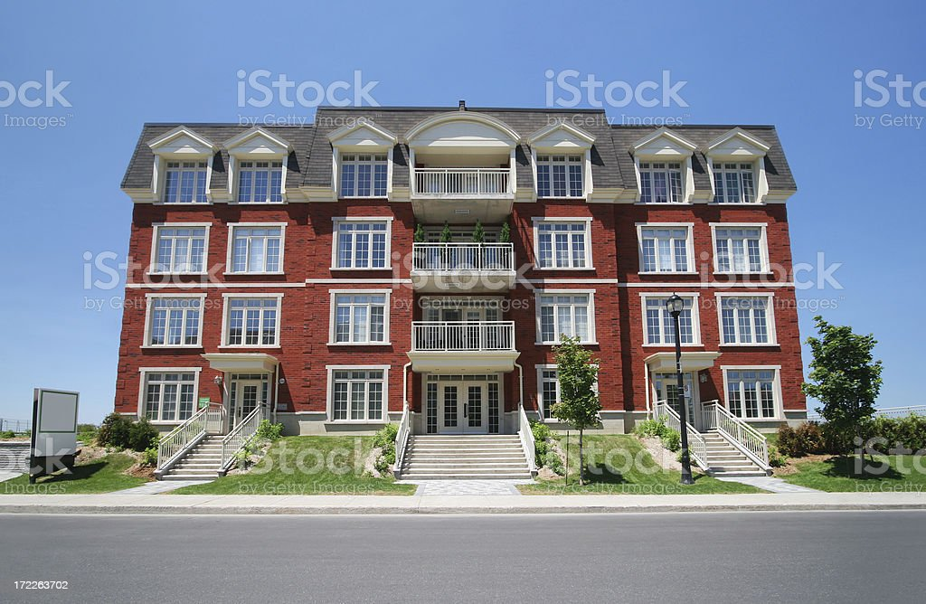 Townhouse Building Entrance royalty-free stock photo