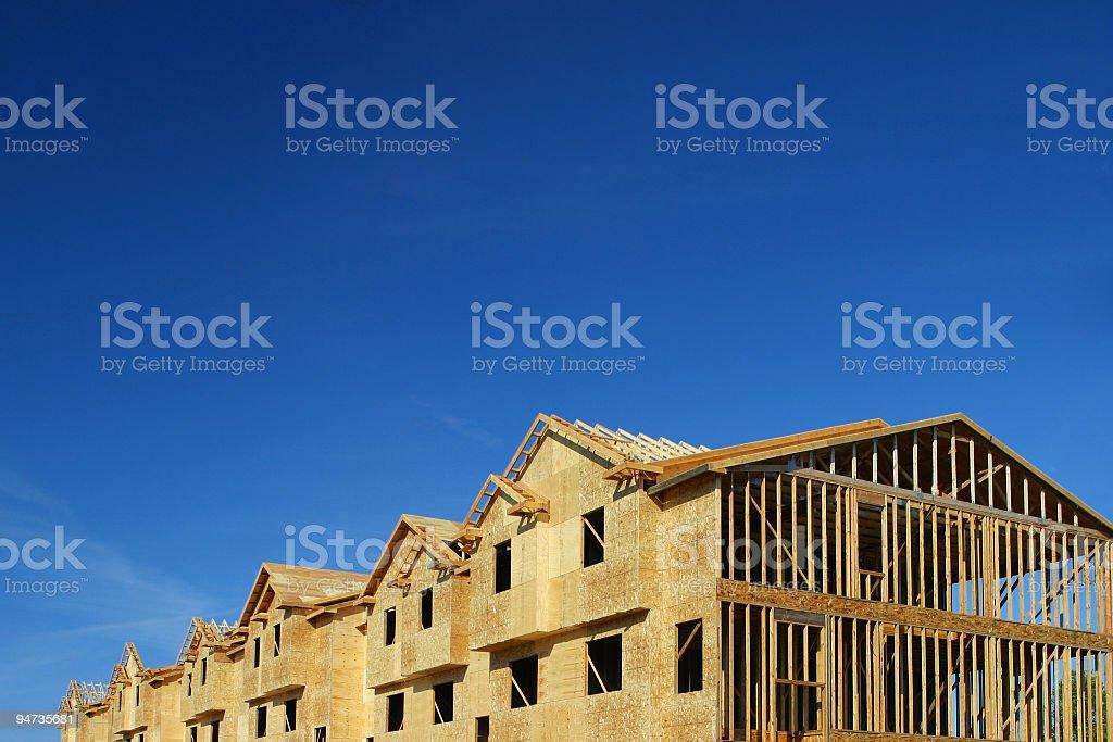 Townhouse Construction stock photo