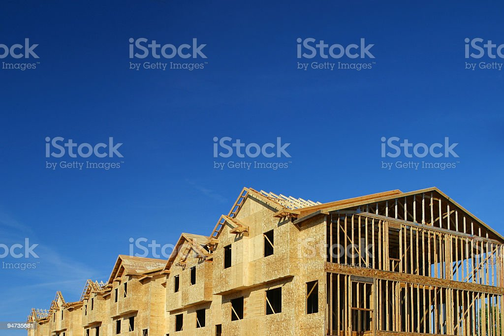 Townhouse Construction stock photo