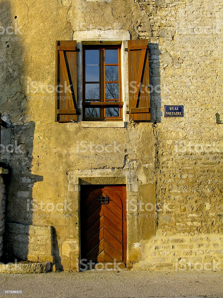 Townhouse in Chablis France stock photo