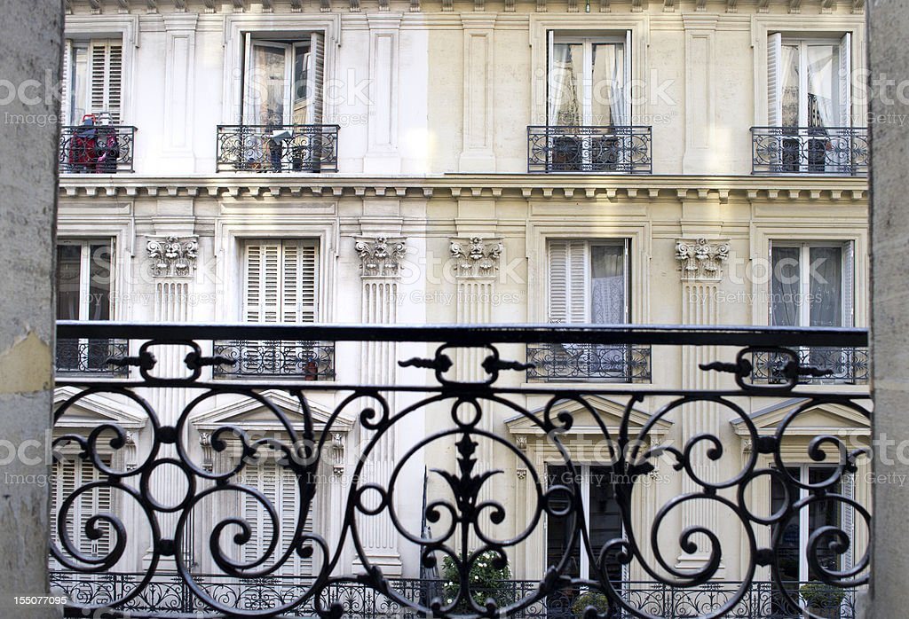 townhouse in Paris France stock photo