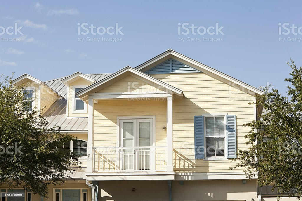 Townhouse stock photo