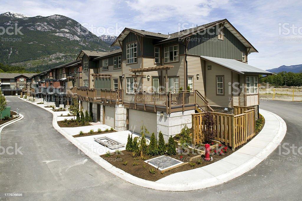 townhouse squamish housing royalty-free stock photo