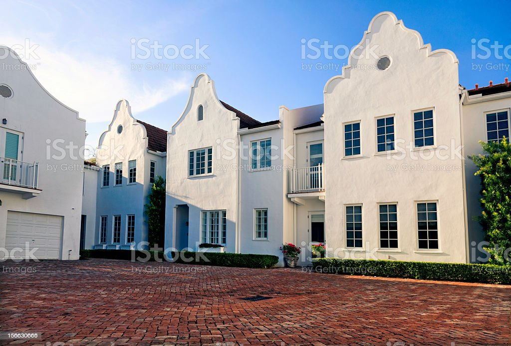 Townhouses in Coral Gables, Florida stock photo
