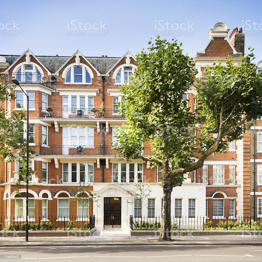 Townhouses in London, UK royalty-free stock photo